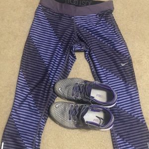 Nike Yoga pants and shoes